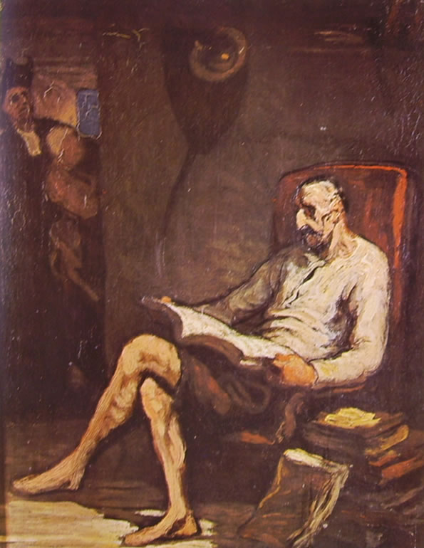 Honoré Daumier: Don Chisciotte in lettura (Melbourne)