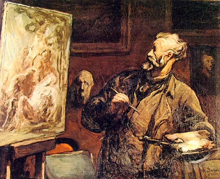 Honoré Daumier: Pittore che dipinge una deposizione