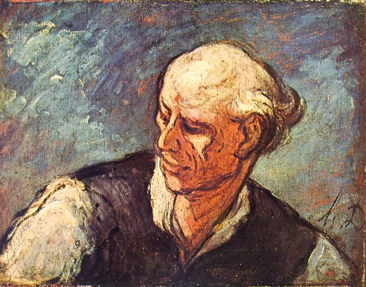 Honoré Daumier: Testa maschile (Cardiff)
