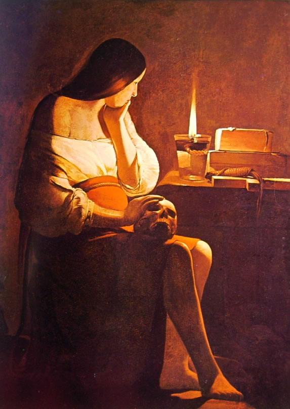 Georges de La Tour: Maddalena Terff (Maddalena penitente)