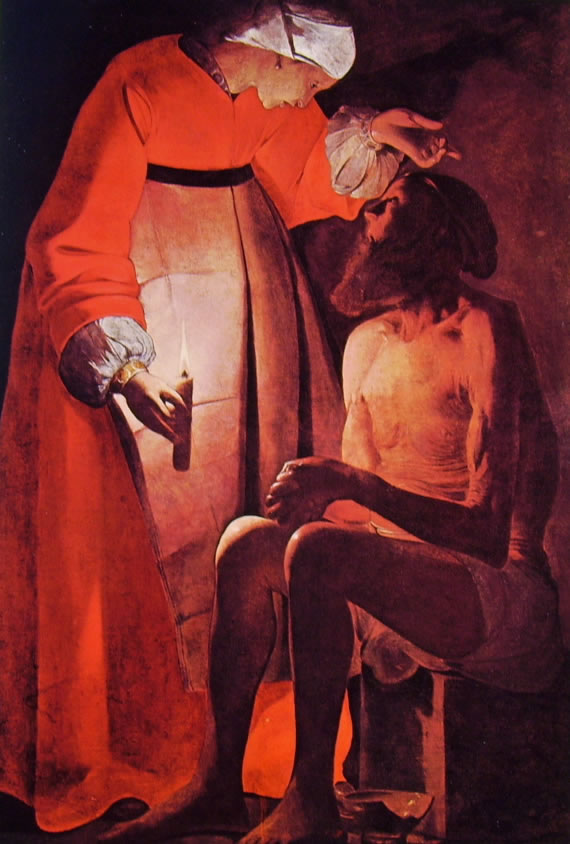 Georges de La Tour: Giobbe e la moglie (Epinal)