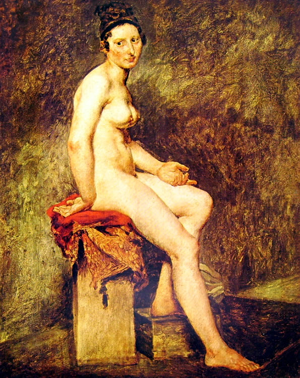 Eugène Delacroix: Nuda seduta (Louvre)