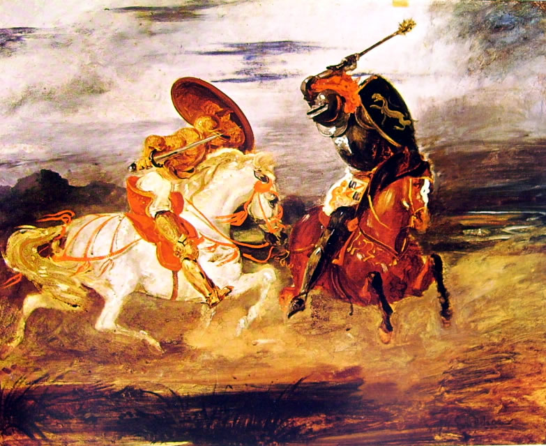 Eugène Delacroix: Combattimento di due cavalieri