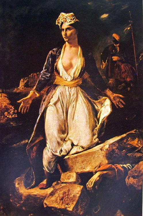 Eugène Delacroix: La Grecia spirante sulle rovine di Missolungi