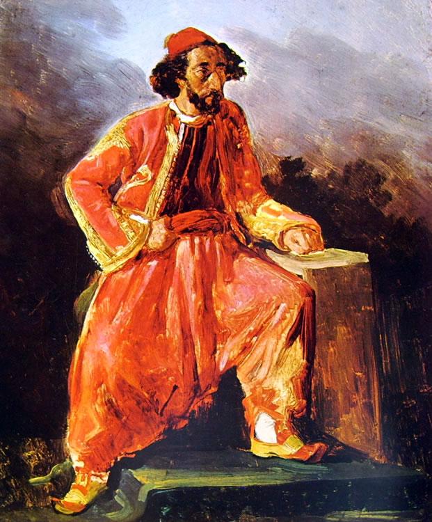 Eugène Delacroix: Turco seduto (Louvre)