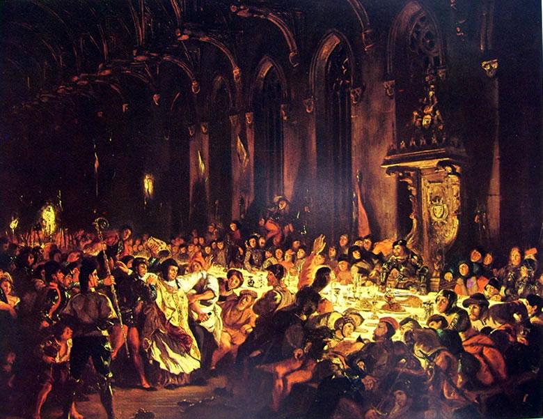 Eugène Delacroix: L'assassinio del vescovo di Liegi