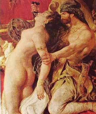particolare 1 Delacroix-la morte di sardanapalo