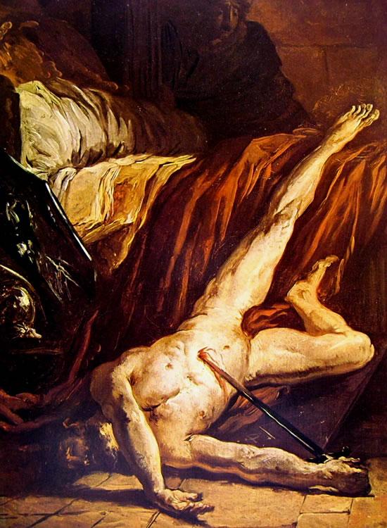 Le opere di Delacroix: La morte di Catone (Musée Fabre)