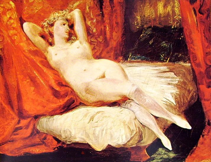 Eugène Delacroix: Nudo dalle calze bianche