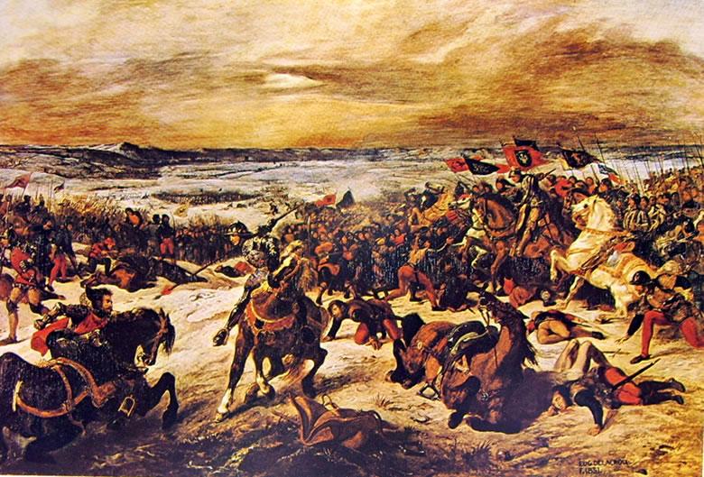 Eugène Delacroix: La battaglia di Nancy (Musée des Beaux-Arts)