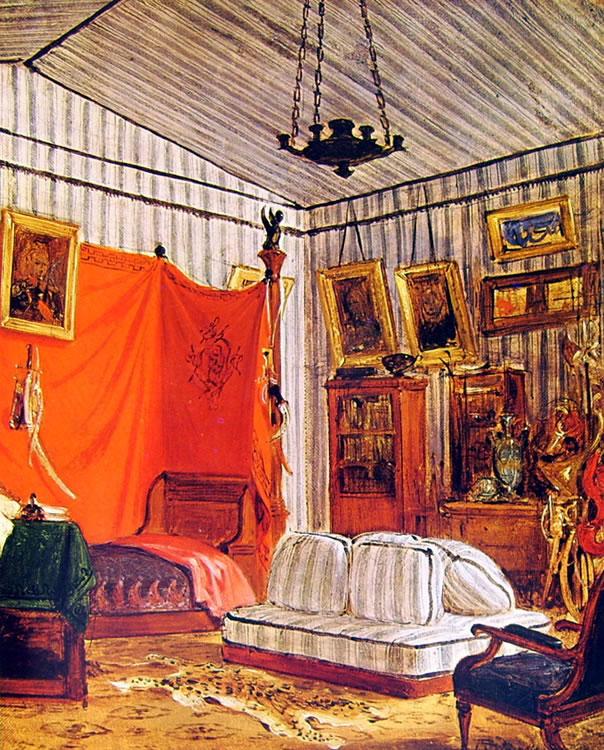 Eugène Delacroix: Stanza nell'appartamento del conte de Mornay