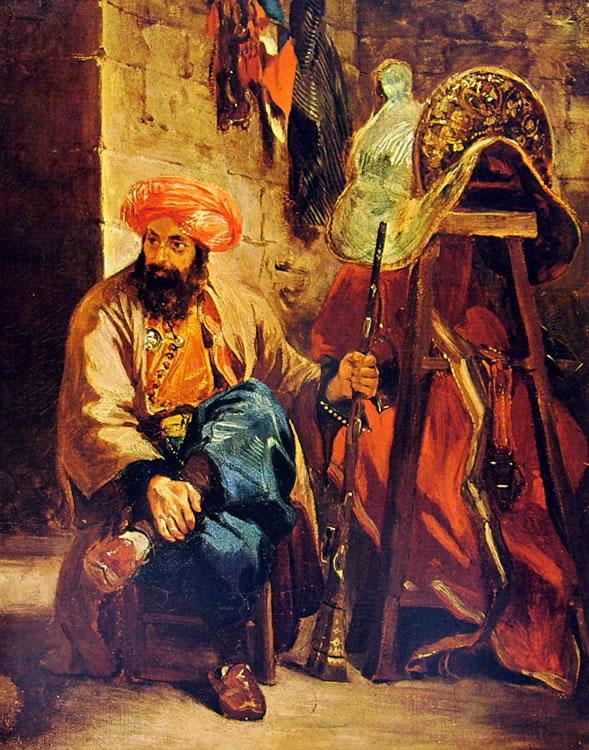 Eugène Delacroix: Turco presso una sella