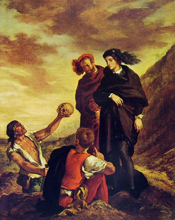Eugène Delacroix: Amleto e Orazio al cimitero (Louvre)