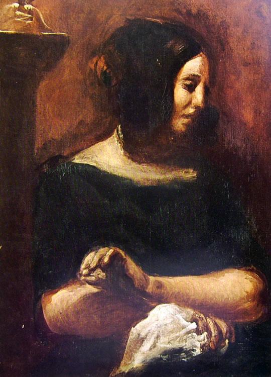 Eugène Delacroix: Ritratto di George Sand