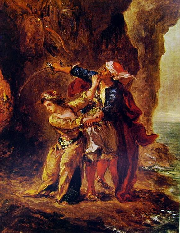 Eugène Delacroix: La fidanzata di Abydos (Louvre)