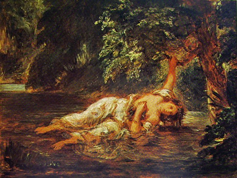 Eugène Delacroix: La morte di Ofelia (Louvre)