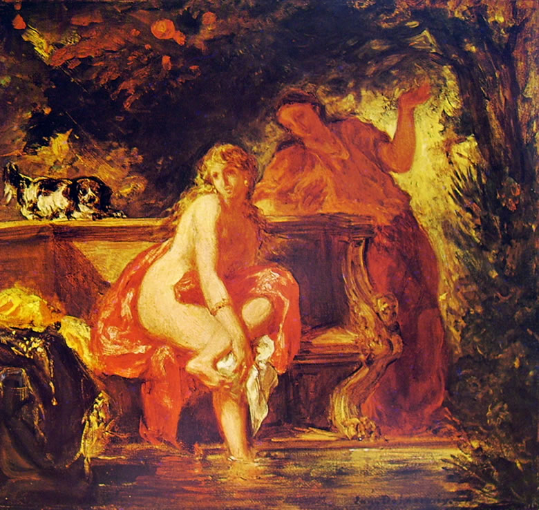 Susanna al bagno (Bagnante) di Eugène Delacroix