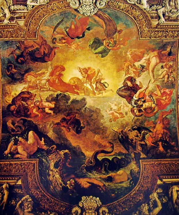 Eugène Delacroix: Apollo vincitore di Pitone (Louvre)