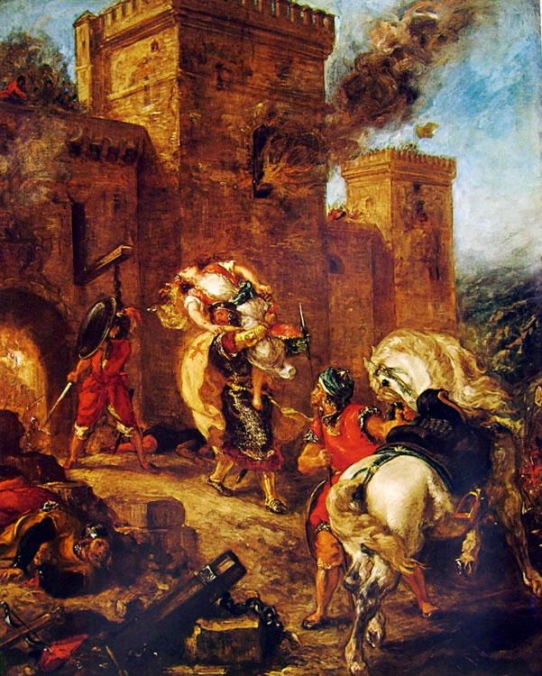 Eugène Delacroix: Il rapimento di Rebecca (Louvre)