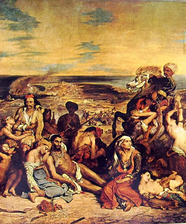 Eugène Delacroix: Il massacro di Scio