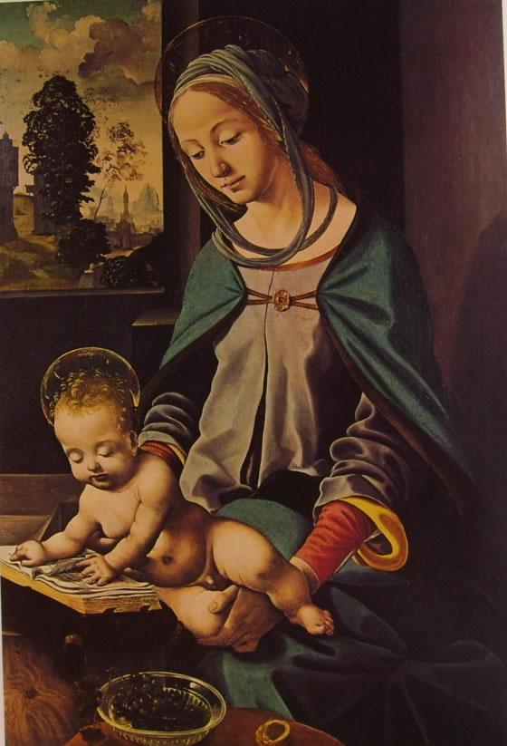 Piero di Cosimo: Madonna con il Bambino (Stoccolma)