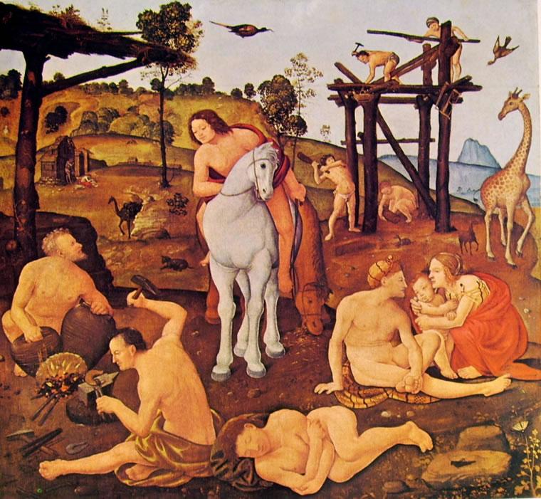 Piero di Cosimo: Vulcano e Eolo