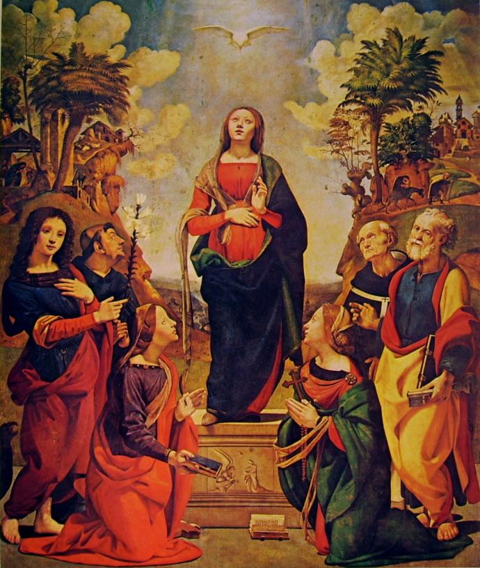 Piero di Cosimo: Incarnazione di Cristo e santi (Uffizi)