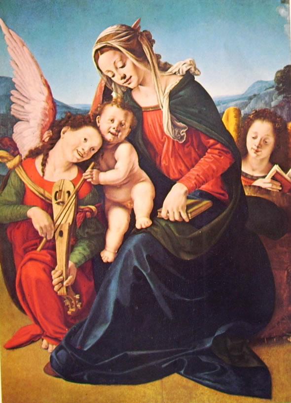 Piero di Cosimo: Madonna col Bambino e gli angeli (Collezione Cini)