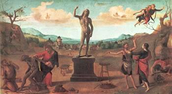 Piero di Cosimo: Le Storie di Prometeo - Il mito di Prometeo, Alte Pinakothek, Monaco di Baviera