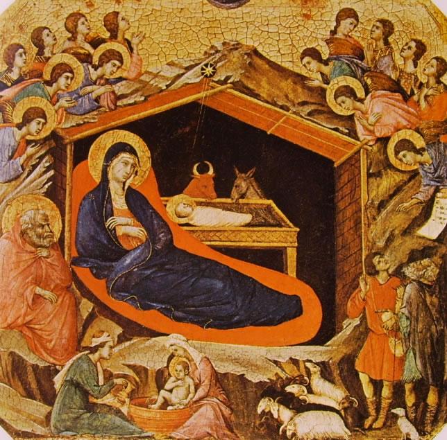 Duccio di Buoninsegna: Maestà - Predella (recto): La Natività (Washington)
