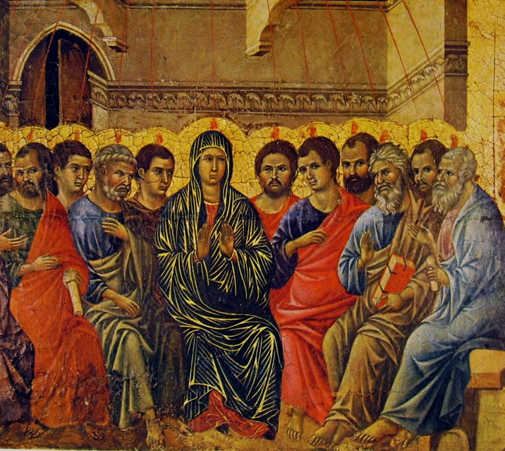 Duccio di Buoninsegna: Maestà - La Pentecoste (Museo dell'Opera di Siena)