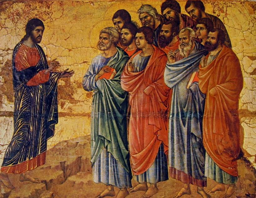 Duccio di Buoninsegna: Maestà - L'Apparizione di Cristo sul monte della Galilea (Siena)