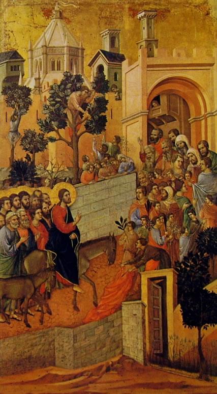 Duccio di Buoninsegna: Maestà - L'ingresso a Gerusalemme (Museo dell'Opera)