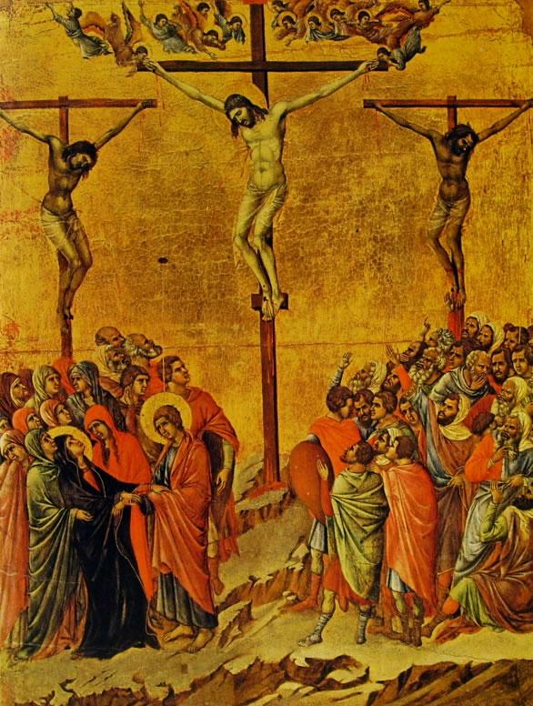 Duccio di Buoninsegna: Maestà - La crocifissione (Museo dell'Opera)