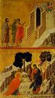 Duccio - Cristo e i pellegrini verso Emmaus e L'Apparizione di Cristo alla Maddalena
