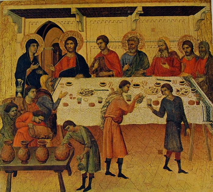 Duccio di Buoninsegna: Maestà - Le nozze di Cana (Siena)