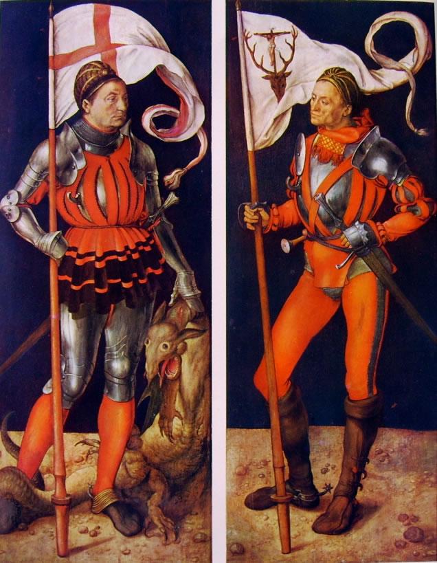 Albrecht Dürer: Altare di Paumgartner - S. Giorgio e S. Eustachio