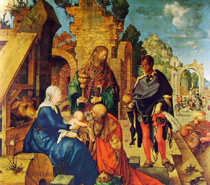 Albrecht Dürer:L'adorazione dei magi (Uffizi)