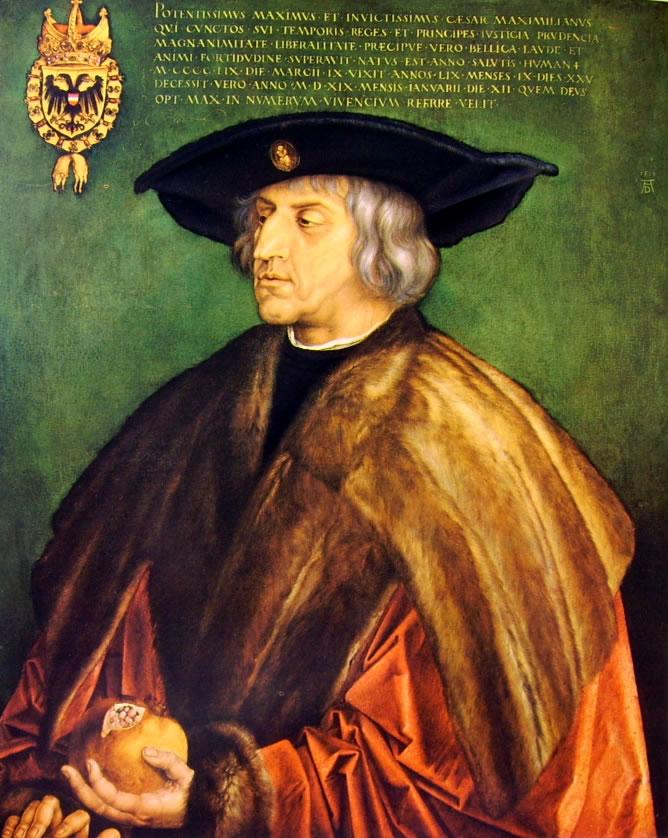 Albrecht Dürer: Ritratto dell'imperatore Massimiliano