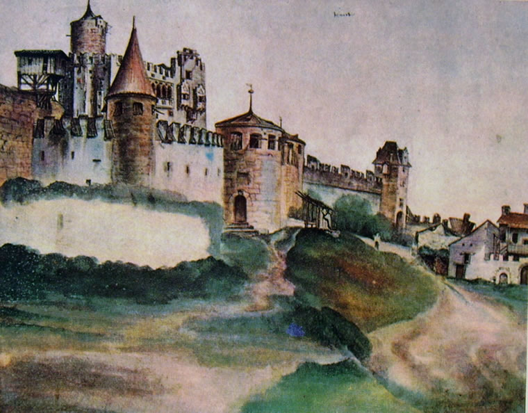 Albrecht Dürer: Castello di Trento (British Museum)