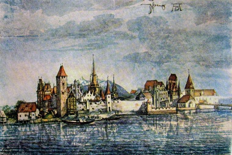 Albrecht Dürer: Veduta di Innsbruck