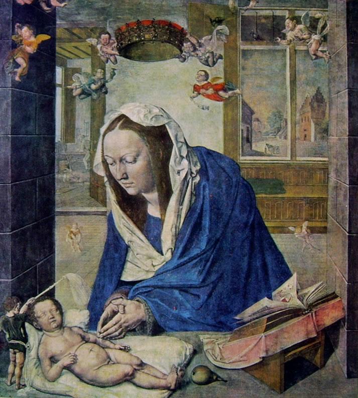 Albrecht Dürer: Altare di Dresda - L'adorazione del bambino
