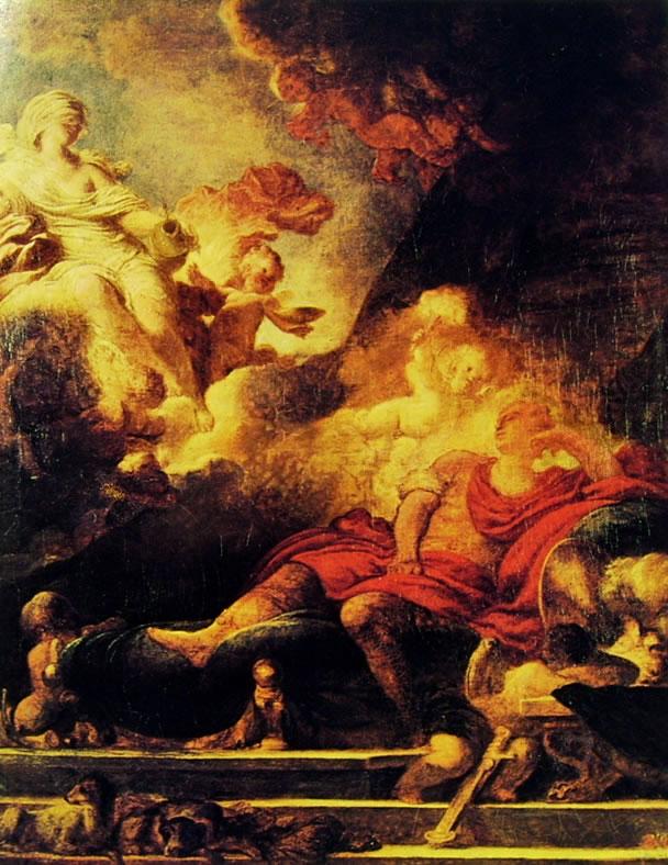 Il sogno del guerriero di Fragonard