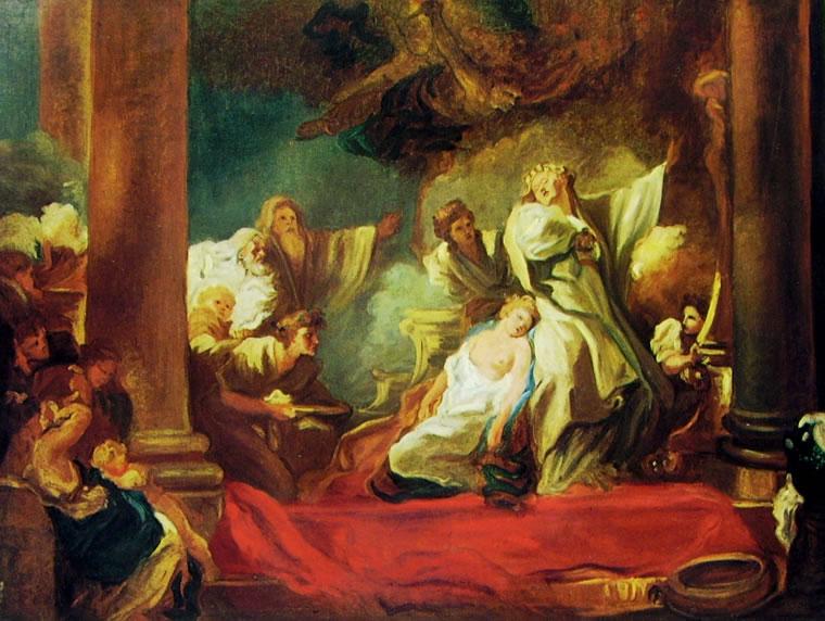 Jean-Honoré Fragonard: Coreso e Calliroe (Anger)