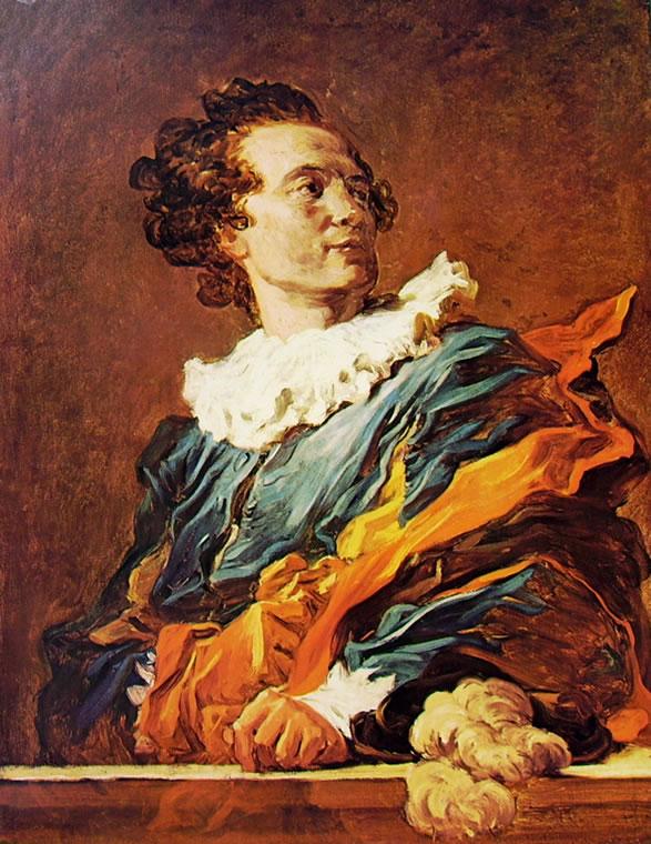 """Jean-Honoré Fragonard: """"L'attore - Figura di fantasia"""", o """"Busto maschile"""""""