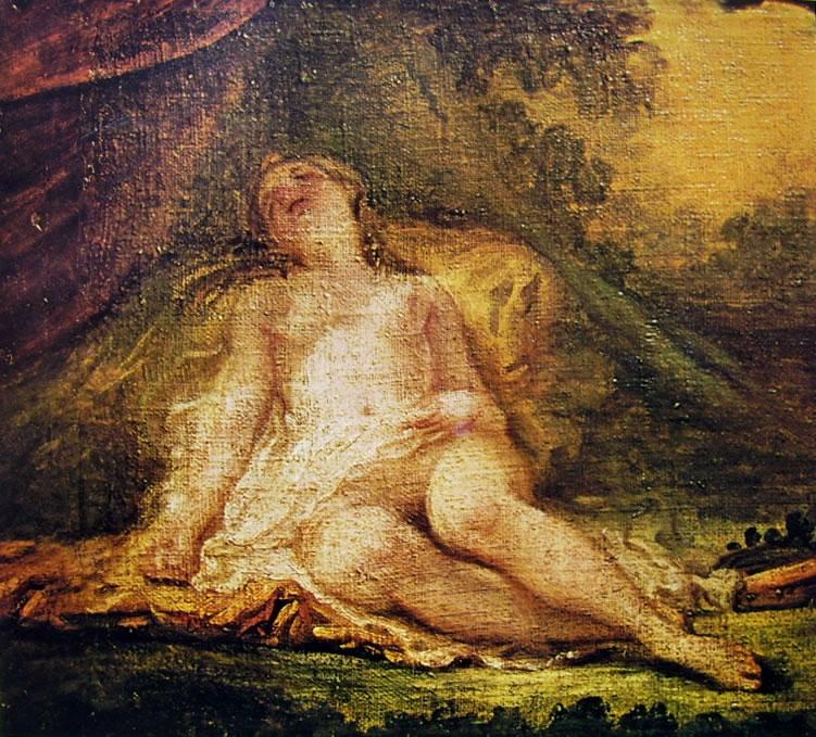 Jean-Honoré Fragonard: Baccante addormentata (Louvre)