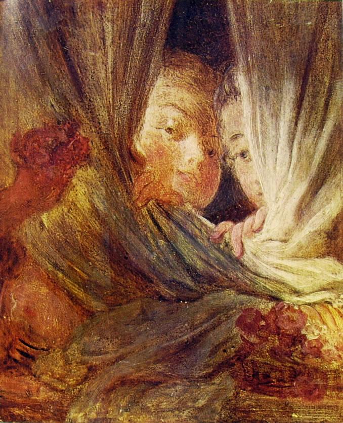 Jean-Honoré Fragonard: Le piccole curiose (Louvre)