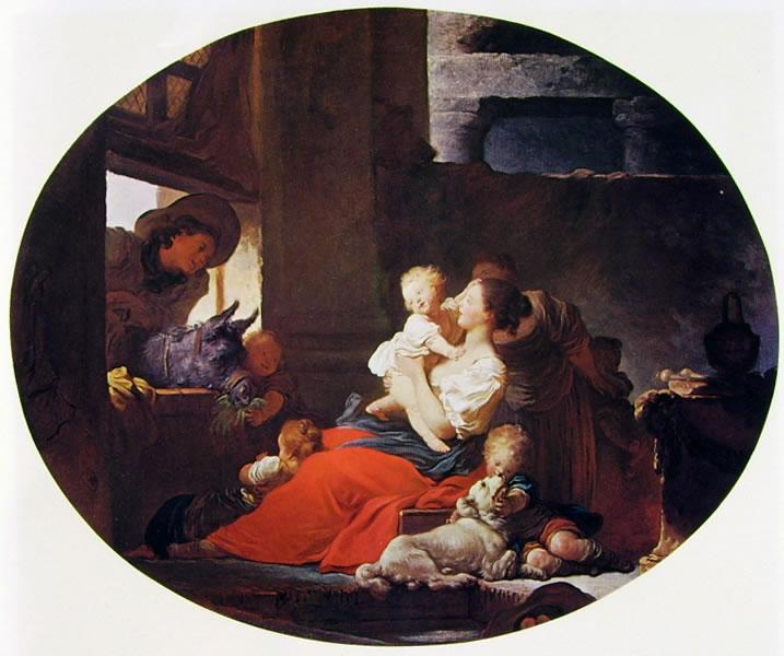 Jean-Honoré Fragonard: Interno rustico