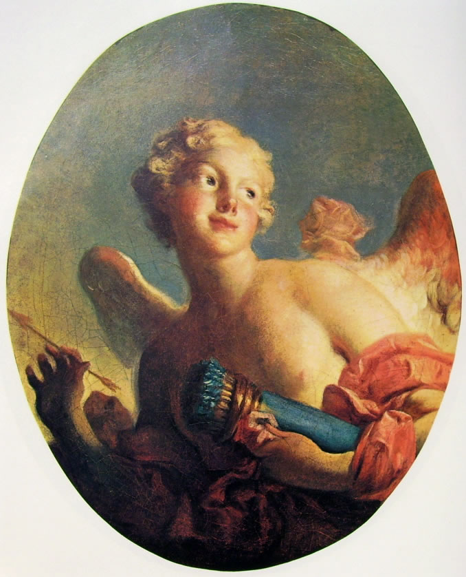 Jean-Honoré Fragonard: Maria Catherine Colombe  come Cupido