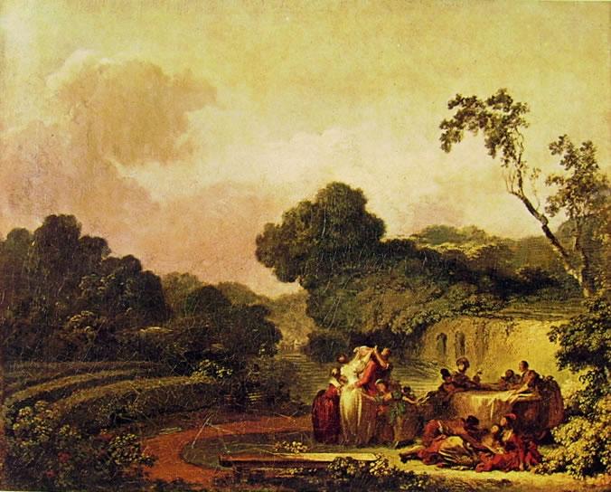 Jean-Honoré Fragonard: Il gioco della mosca cieca (Louvre)